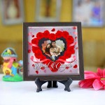 Personalized Photo Tiles with Frame Best Couple