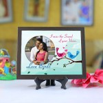 Personalized Photo Tiles with Frame Birds