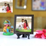Personalized Photo Tiles with Frame Cartoons