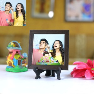 Personalized Photo Tiles with Frame Dream Land