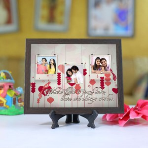 Personalized Photo Tiles with Frame Hanging design