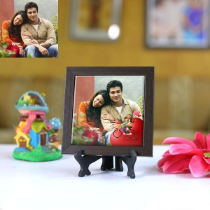 Personalized Photo Tiles with Frame Heart Cycle