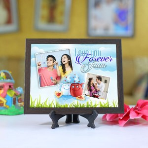 Personalized Photo Tiles with Frame Jaan