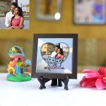 Personalized Photo Tiles with Frame Love Birds