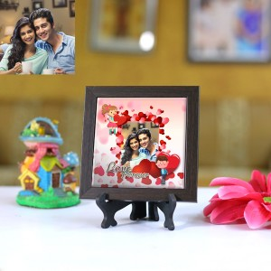 Personalized Photo Tiles with Frame Love Forever 01