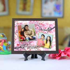 Personalized Photo Tiles with Frame Love Forever 3