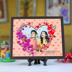 Personalized Photo Tiles with Frame Love Forever 4