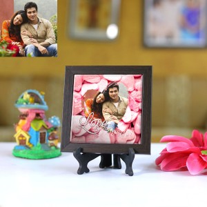 Personalized Photo Tiles with Frame Love Forever