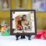 Personalized Photo Tiles with Frame Love you 02