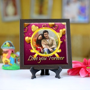Personalized Photo Tiles with Frame Love you forever 2