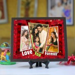 Personalized Photo Tiles with Frame Love you forever 3
