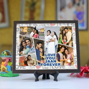 Personalized Photo Tiles with Frame Love you Jaan