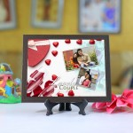 Personalized Photo Tiles with Frame Lovely Couple 2