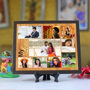 Personalized Photo Tiles with Frame My Love 2