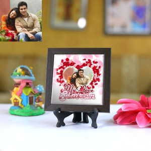 Personalized Photo Tiles with Frame My Love
