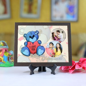 Personalized Photo Tiles with Frame Sweet Heart