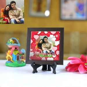 Personalized Photo Tiles with Frame Valentine day 01