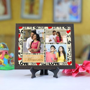 Personalized Photo Tiles with Frame Valentine Memories