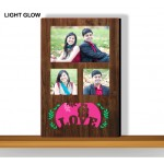 Personalized pink LOVE glow in dark LED frame