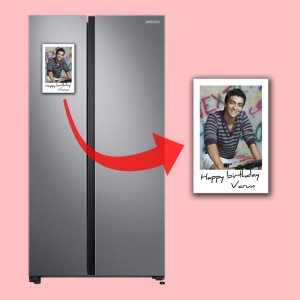 Personalized Polaroid Fridge Magnet