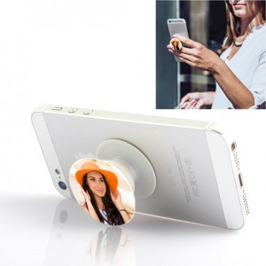 Personalized pop socket for mobile phone