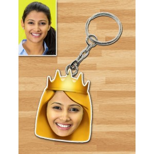 Personalized Queen Caricature Key Ring
