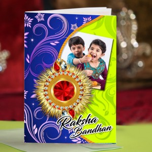 Personalized Raksha bandhan Greeting Card 002