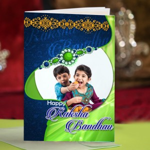 Personalized Raksha bandhan Greeting Card 003