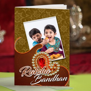 Personalized Raksha bandhan Greeting Card 005