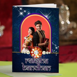Personalized Raksha bandhan Greeting Card 006