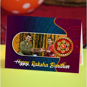 Personalized Raksha bandhan Greeting Card 007