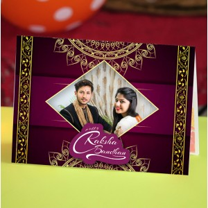 Personalized Raksha bandhan Greeting Card 008