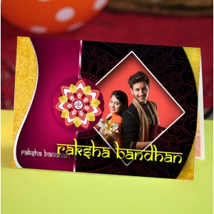 Personalized Raksha bandhan Greeting Card 009