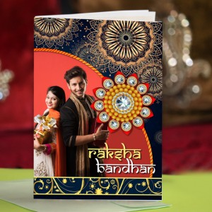 Personalized Raksha bandhan Greeting Card 010