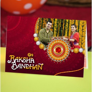 Personalized Raksha bandhan Greeting Card 011