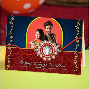 Personalized Raksha bandhan Greeting Card 012