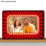 Personalized Rectangular Designer multi color glow in dark LED frame