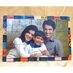 Personalized Rectangular Magnetic Puzzle Photo Frame 2 way display