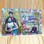 Personalized Rectangular Magnetic Puzzle Photo Frame 2 way display  Size Large