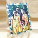 Personalized Rectangular Magnetic Puzzle Photo Frame 2 way display  Size Medium