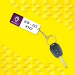 Personalized Renault Car key ring with name and number and logo