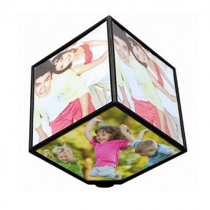 Personalized rotating magical cube battery operated 360 degree