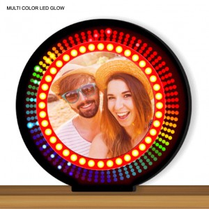 Personalized Round Designer multi color glow in dark LED frame