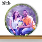 Personalized Round Shaped multi color glow in dark LED frame