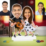 Personalized Singing Couple Caricature Photo Stand In
