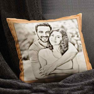 Personalized Sketch Canvas Cushion (16X16)