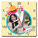 Personalized square wall clock birthday gift for girl or ladies