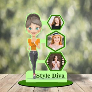 Personalized Style Diva cutout photo collage stand