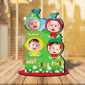 Personalized Sweet Like Fruit MDF cutout photo collage stand