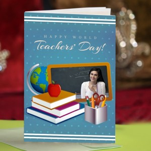 Personalized Teacher's Day Greeting Card 001